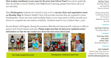 Students Celebrating Earth day on the School Newsletter.